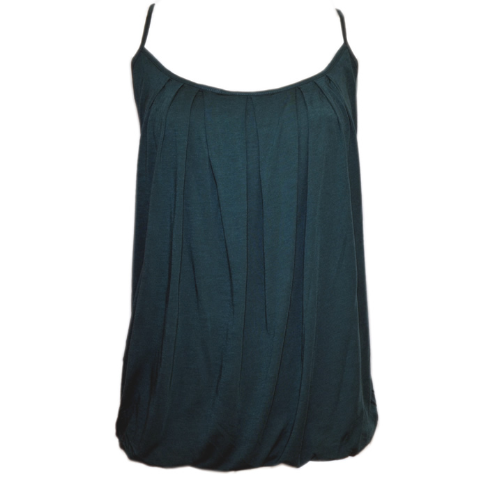 Tommy Bahama Cliff Jersey Shirred Bubble Tank - Seaway