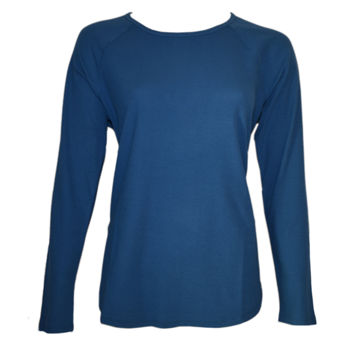 Tommy Bahama Reef Rib Long-Sleeve T-Shirt - Deep Azure
