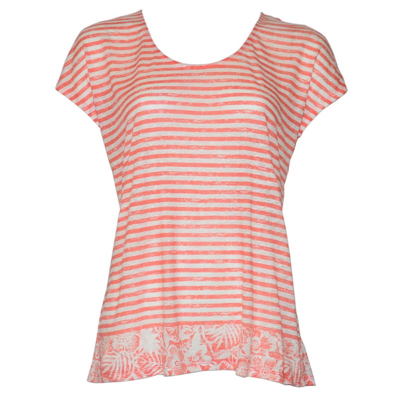 Tommy Bahama Del Lago Floral Stripe Tee
