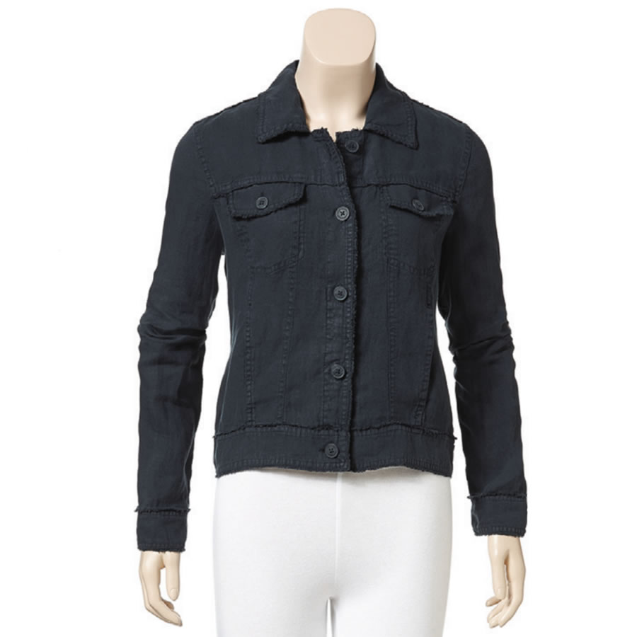 Tommy Bahama Two Palms Raw Edge Jacket - Black