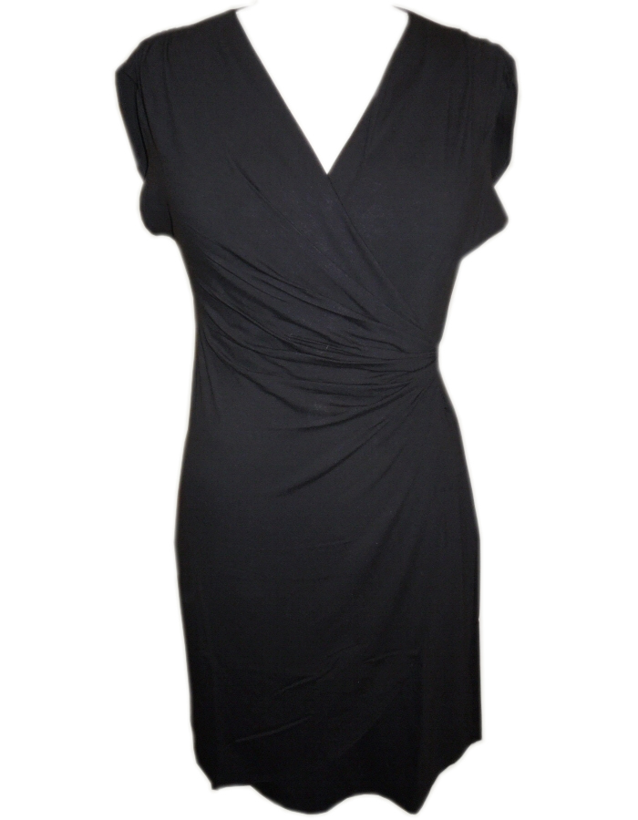 Tommy Bahama Tambour Shirred Dress Black