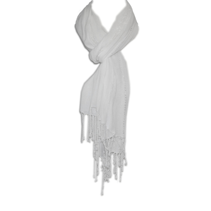 Tommy Bahama Lightweight Sequin Scarf-Natural