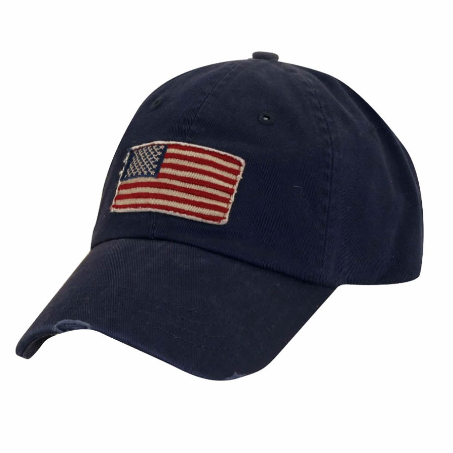 Dorfman Pacific Global Trends USA Panel Cap - Navy